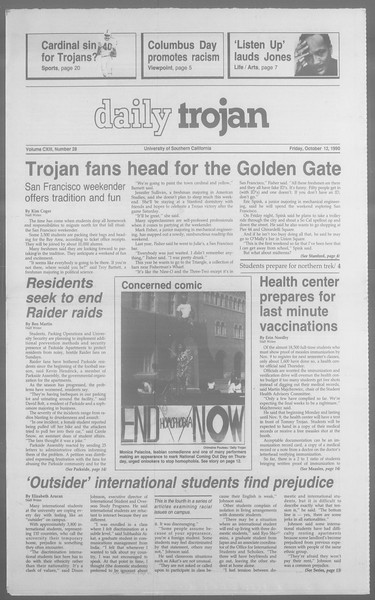 Daily Trojan, Vol. 113, No. 29, October 12, 1990