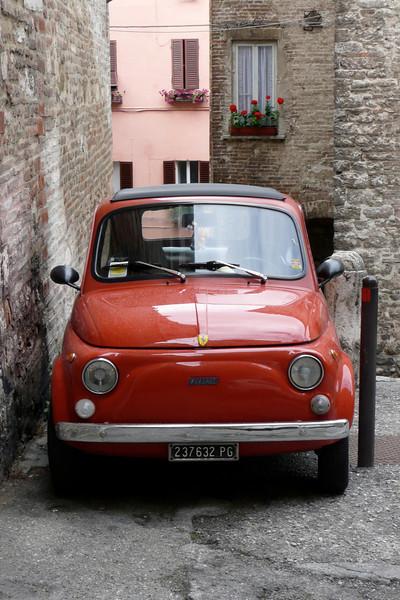Fiat 500. Perugia, Umbria