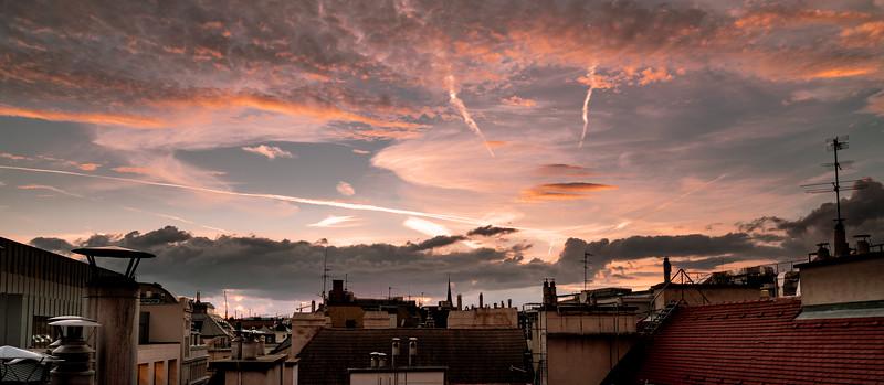 A crazy sky over Vienna