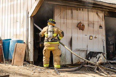 04-13-18 Conesville FD garage fire