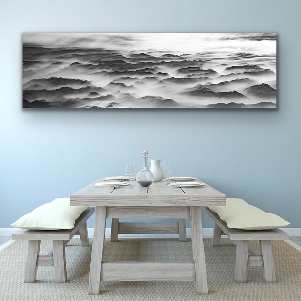 'Sea of Mountains' B&W Canvas Wrap