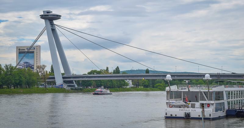 Bratislava: Danube and SNP Bridge (1972)