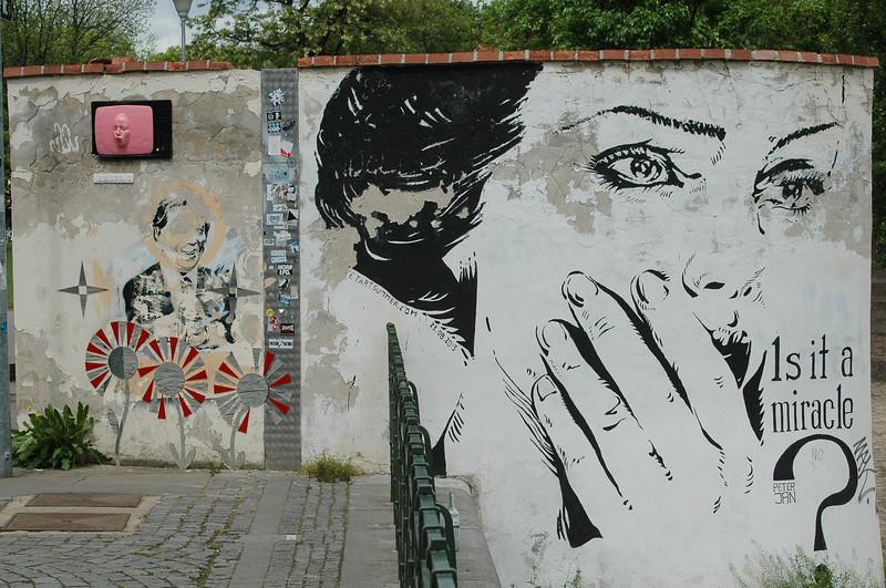 Prague: Kampa Park, street art