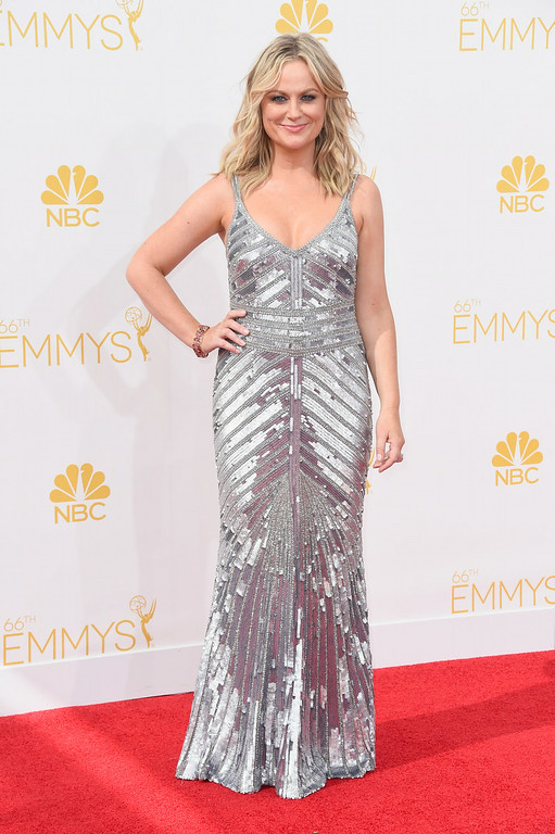 . Actress Amy Poehler attends the 66th Annual Primetime Emmy Awards held at Nokia Theatre L.A. Live on August 25, 2014 in Los Angeles, California.  (Photo by Frazer Harrison/Getty Images)