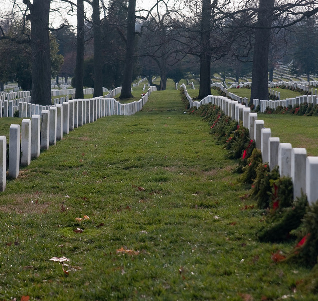 Spent Christmas morning in the presence of real heroes. At Arlington National Cemetery.