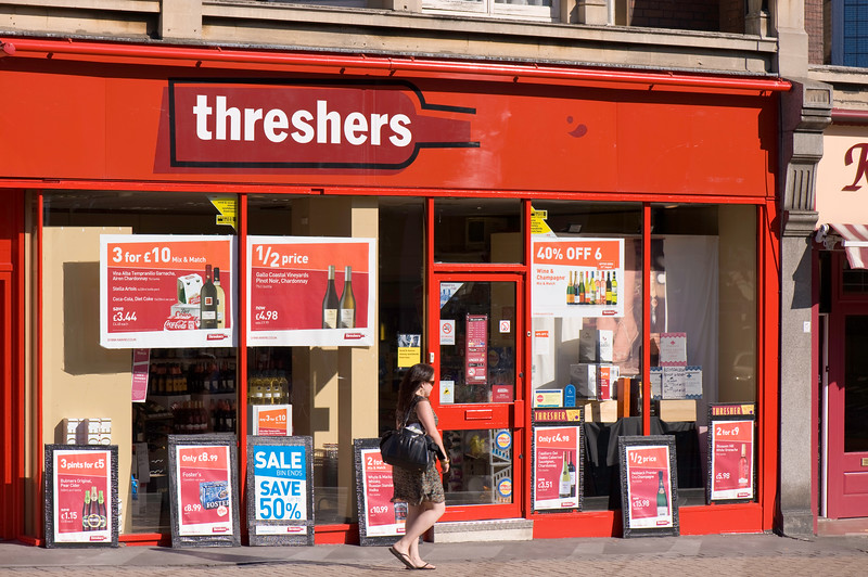 Threshers offlicence shop, Upminster, Essex, United Kingdom