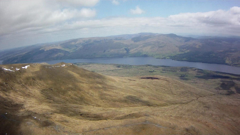 Lower Slopes below Beinn Ghlas to south and Loch Tay.