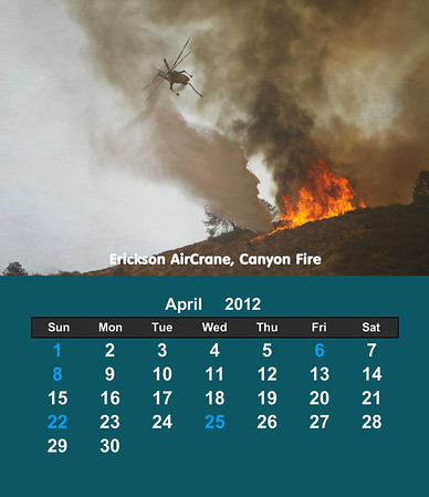 Firefighting Helicopters 2012 Cd Case Calendar