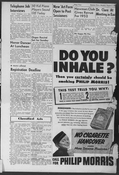 Summer News, Vol. 7, No. 11, August 04, 1952