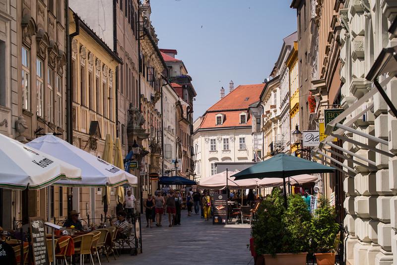 Street leading to Old Square, Bratislava