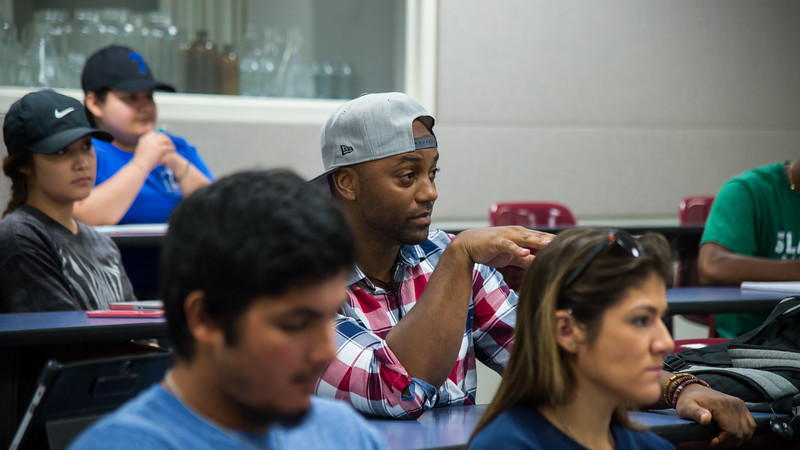 Students listen to the lecture in Sport Conditioning class of instructor B. Altiner