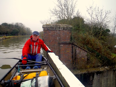 Canoeing on the Grand Union Canal in Milton Keynes