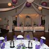 Lavender and Purple Wedding- Here's a shot of the dance floor from a guest table.  The bride had a very dark purple and a lavendar color scheme.  Maneeley's in South Windsor, CT