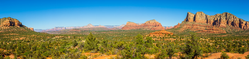 Panorama image of the landscape of Sedona Arizona