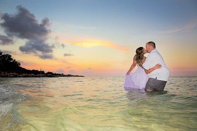 Brian and Denise Vow Renewal Ceremony and Reception on the Beach at the Iberostar Grand Rose Hall Resort in Jamaica