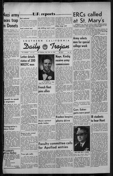 Daily Trojan, Vol. 34, No. 85, February 16, 1943