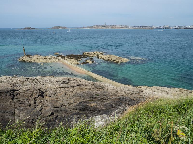 Dinard, looking back at Saint-Malo