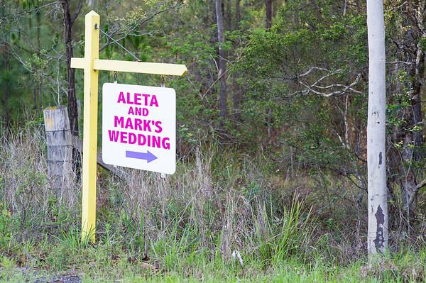 aleta & mark's wedding