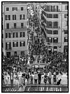 Looking down the Spanish Steps.