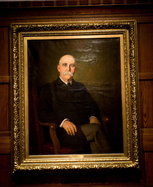 William Parsons president portrait in Heritage Lounge