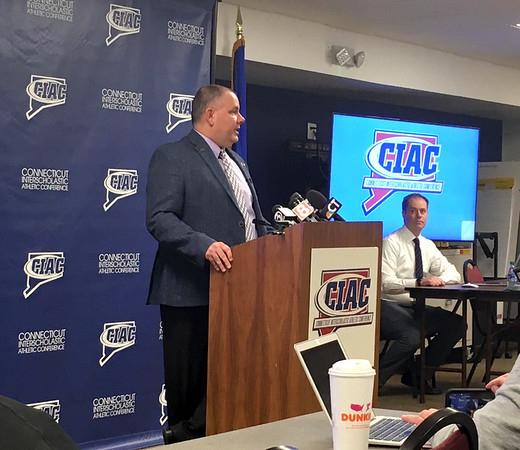 Ryan Chichester | Staff\rGlenn Lungarini, left, Joel Cookson, right, of the CIAC.