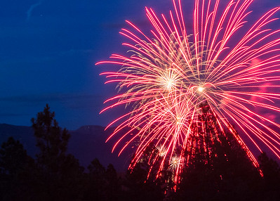 4th of July Fireworks, Pagosa Springs 2016