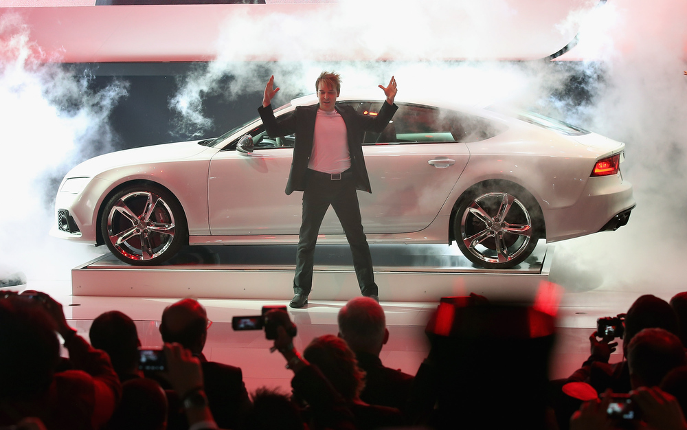 . Audi introduces the RS7 at the North American International Auto Show on January 14, 2013 in Detroit, Michigan. The auto show will be open to the public January 19-27.  (Photo by Scott Olson/Getty Images)