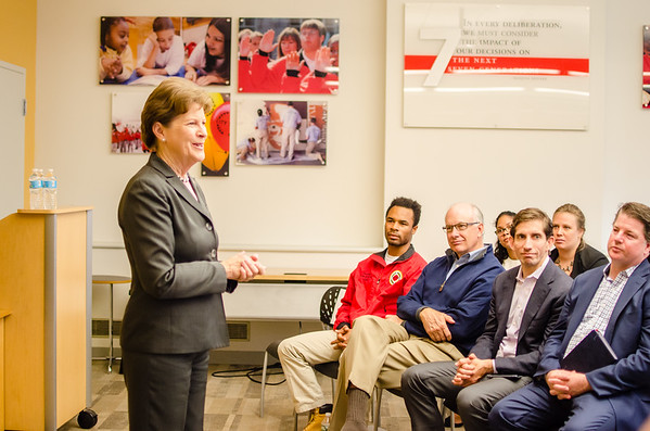 Senator Shaheen Visits City Year