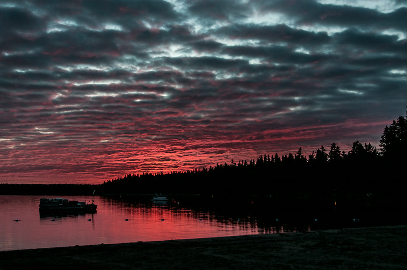 Sunset at Mountain Riding National Park in Manitoba, Canada