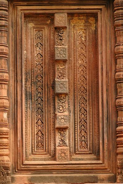 Door Engravings at Banteay Srei - Angkor, Cambodia