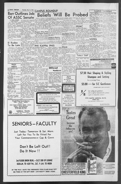 Daily Trojan, Vol. 54, No. 119, May 16, 1963