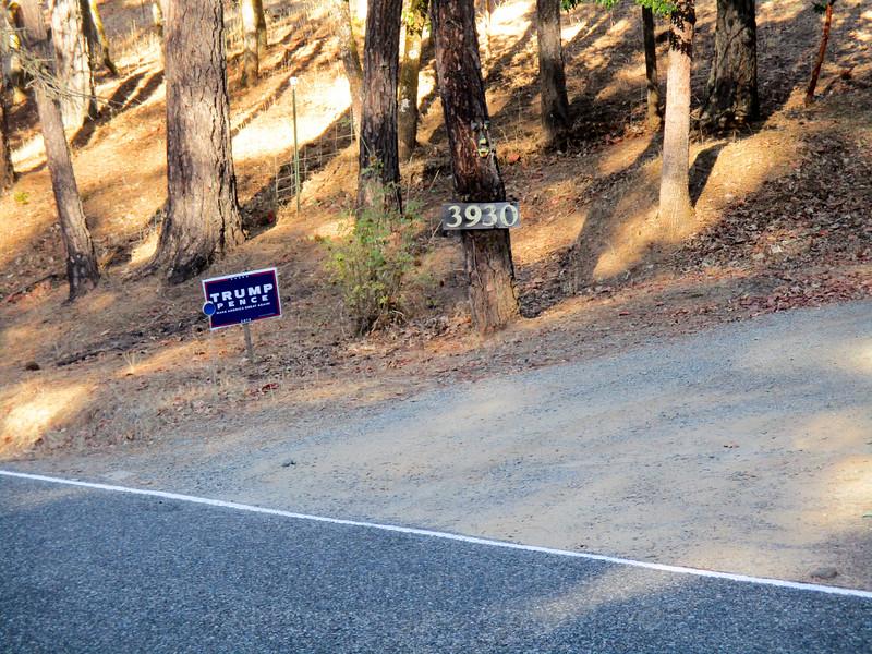 Trump sign.