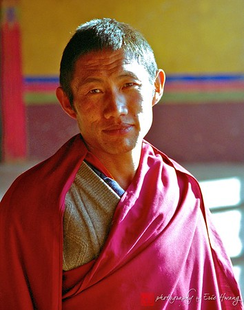 Tibetan monk at the Johkang Monastery