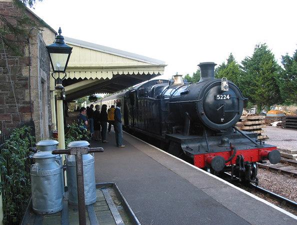 West Somerset Railway, Dunster, Spring Steam Gala, 2002.