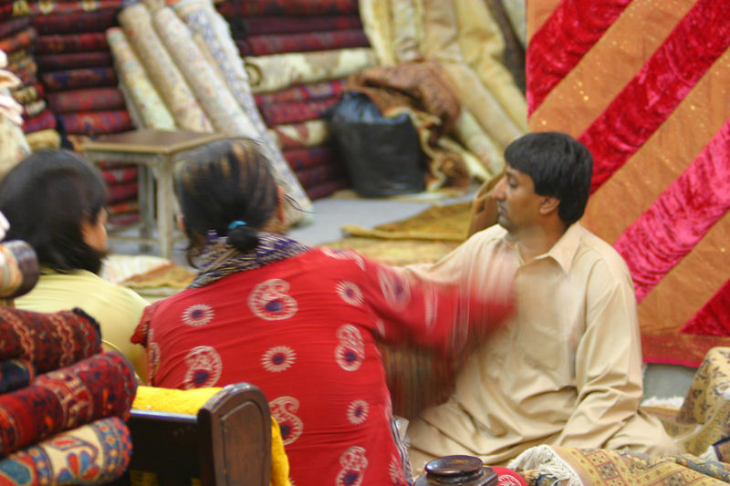 Shopping for carpets in Islamabad