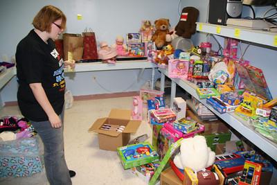 Sorting, Organizing Angel Tree Donations, Salvation Army, Tamaqua (12-21-2011)