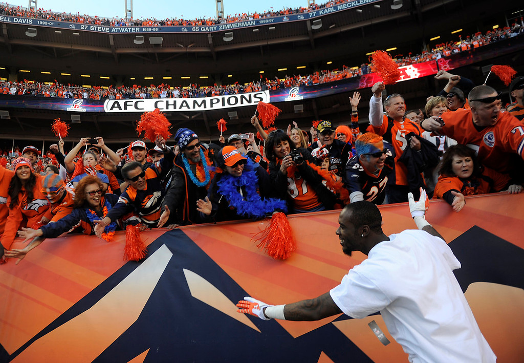 . Denver Broncos cornerback Dominique Rodgers-Cromartie (45) The Denver Broncos take on the New England Patriots in the AFC Championship game at Sports Authority Field at Mile High in Denver on January 19, 2014. (Photo by AAron Ontiveroz/The Denver Post)