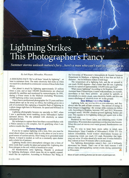 This article was in OUR WISCONSIN MAGAZINE June July 2014 issue.