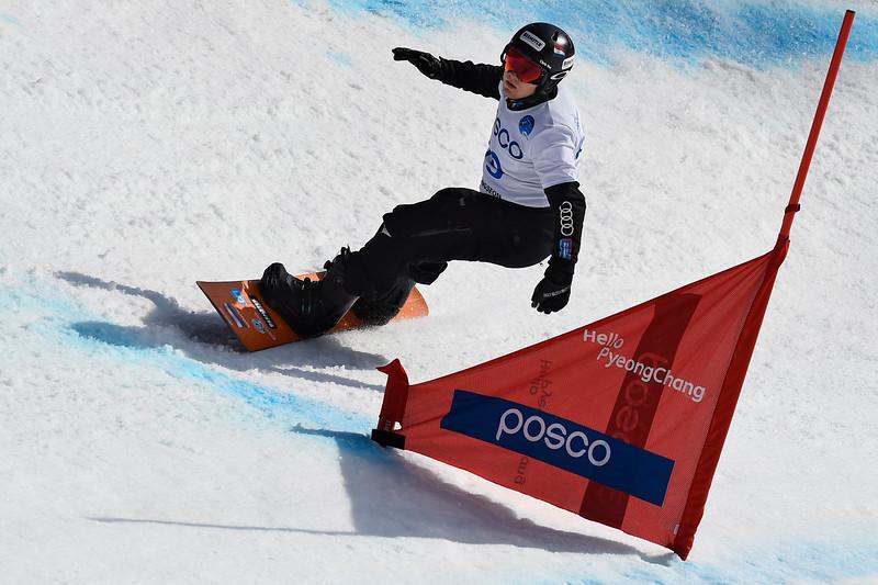 13-3-2017 SNOWBOARDEN: 2017 WORLD PARA SNOWBOARD WORLD CUP FINALS: PYEONGCHANG Goud voor Chris Vos. Foto Mathilde Dusol