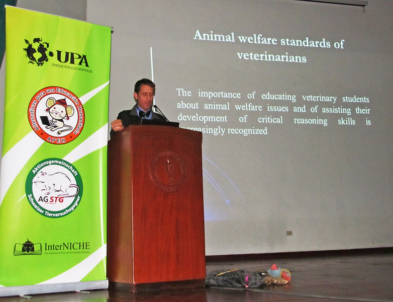 I also spoke on several other topics, including the animal welfare standards of veterinarians.