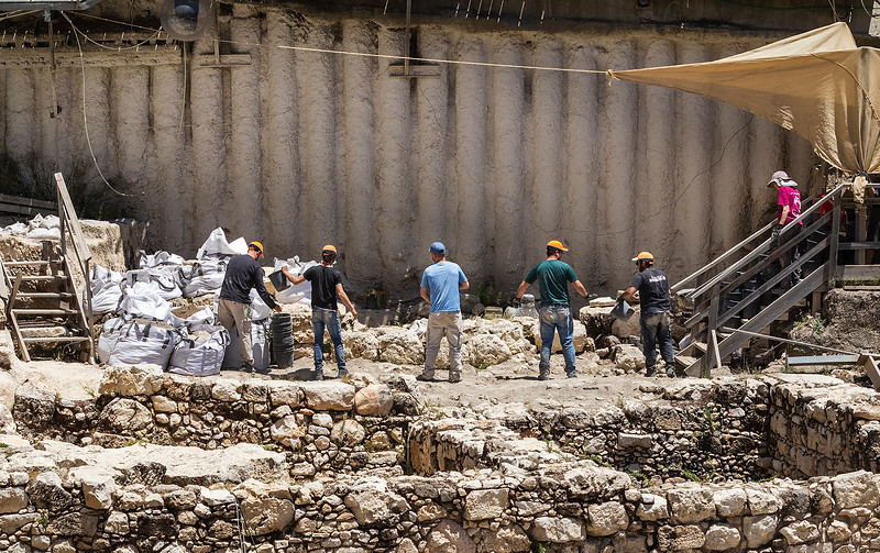 One of the largest archeological digs in Jerusalem