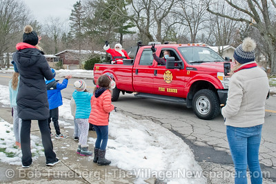 Bay Village Santa Fire Truck Ride 2020