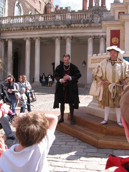 Actors portraying Henry VIII and Thomas Seymour, Hampton Court Palace