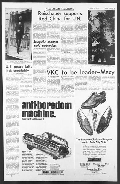 Daily Trojan, Vol. 58, No. 12, October 04, 1966