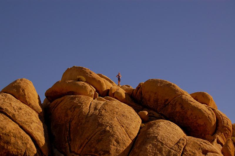 Svetlana on the rocks.