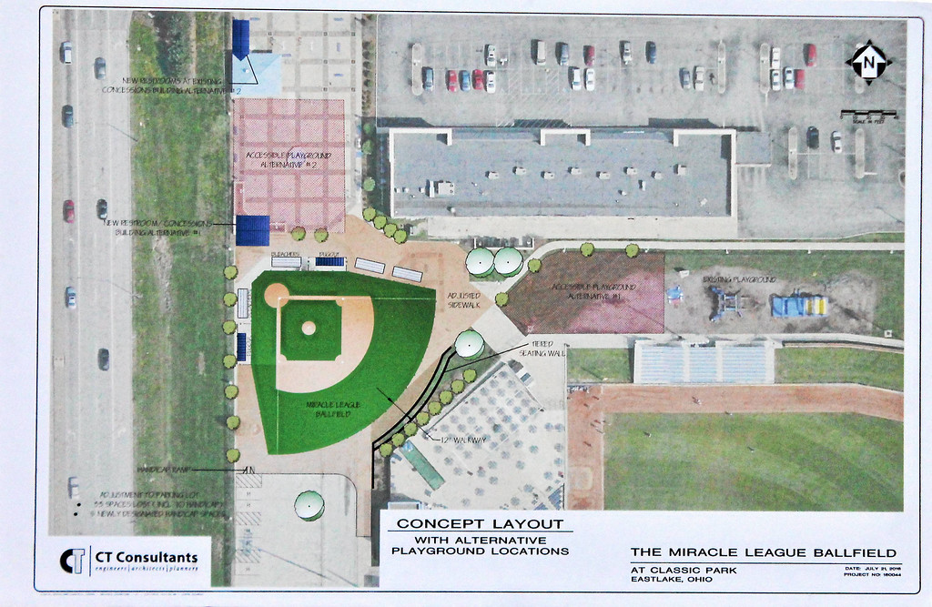 . Submitted <br> Miracle League Ballfield at Classic Park concept layout.