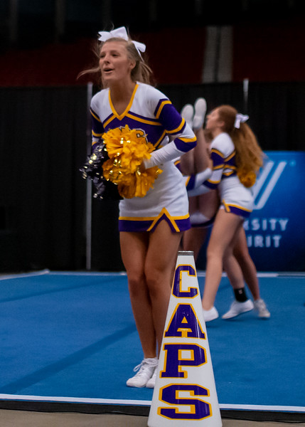 Broughton cheerleading Pre-States. November 16, 2019. D4S_1767