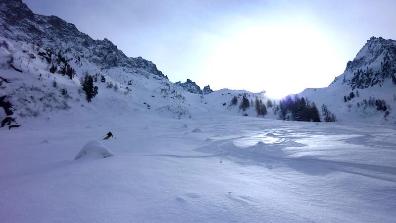 Val d'Arpette and Col de Génépi skitour with Rob and Jesse, Valais, Switzerland