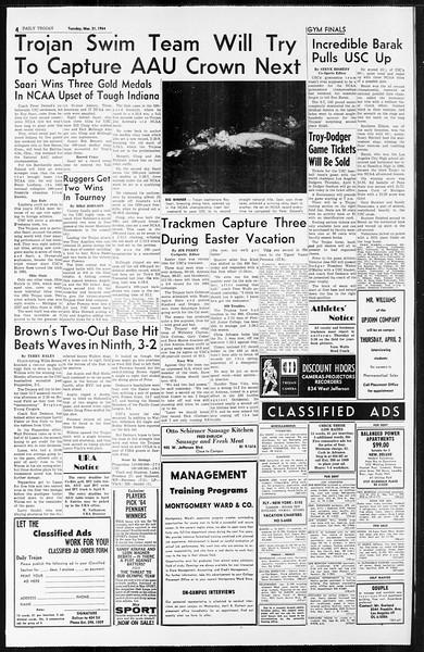 Daily Trojan, Vol. 55, No. 88, March 31, 1964