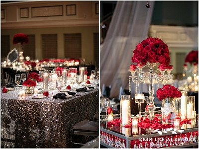 All Red Winter Wedding